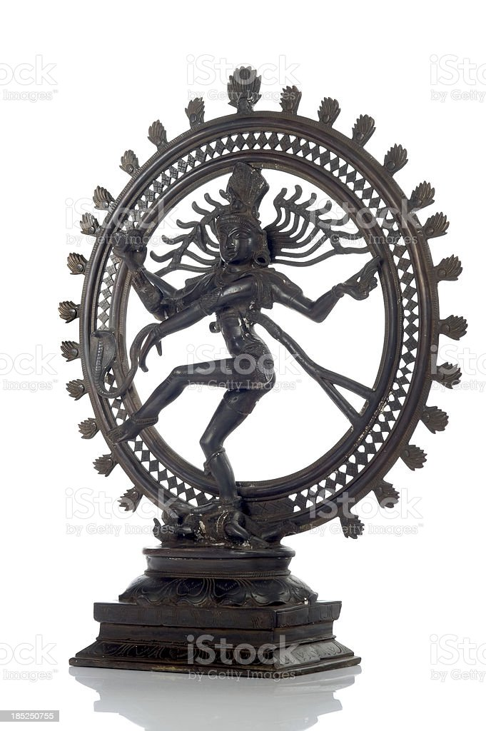 Statue of indian hindu god Shiva Nataraja stock photo