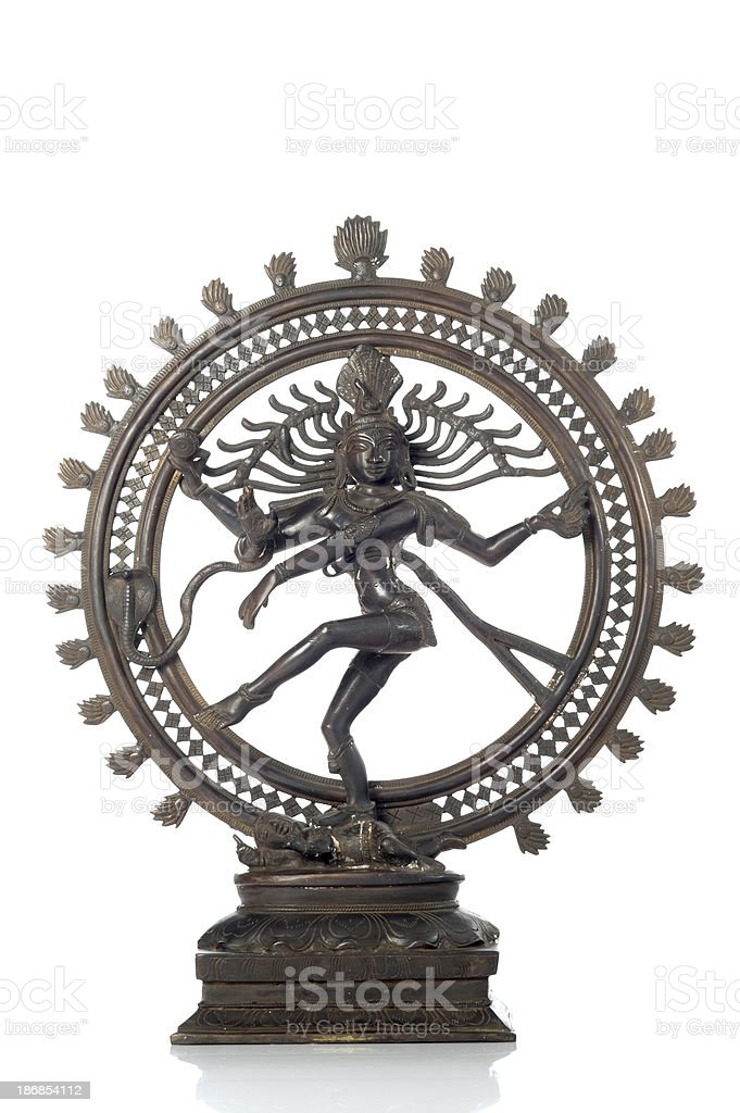 Statue of indian hindu god Shiva Nataraja royalty-free stock photo