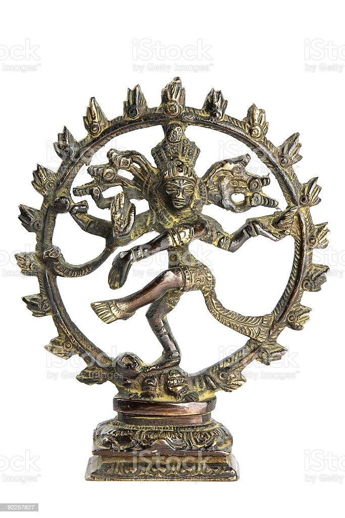 Statue of indian hindu god Shiva Nataraja royalty-free stock photo
