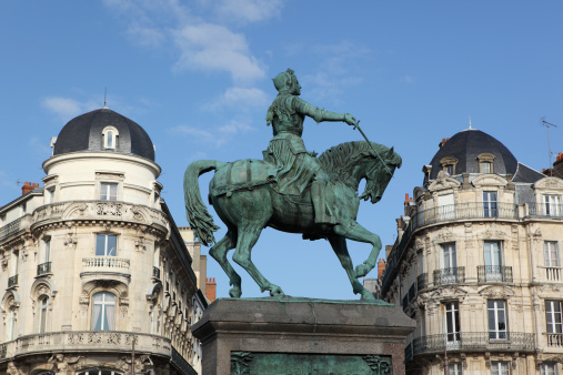 Statue Of Jeanne Darc In Orléans France Stock Photo - Download Image Now