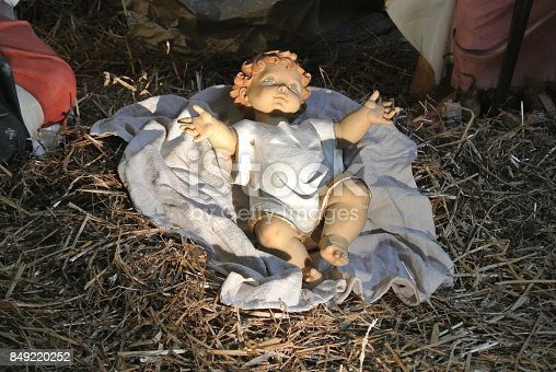 istock statue of jesus child in the nativity scene 849220252