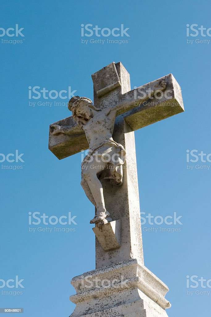 Statue of Jesus on the Cross royalty-free stock photo