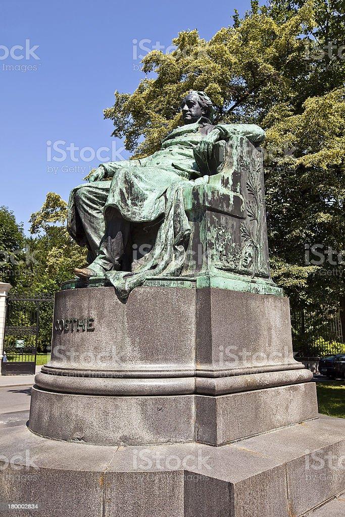 황후상 of 요한 Wolfgang 폰 괴테. 비엔나, 오스트리아 royalty-free 스톡 사진