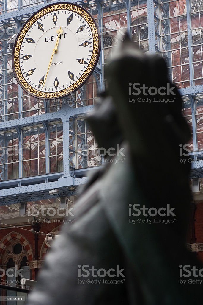 Statue of John Betjeman stock photo