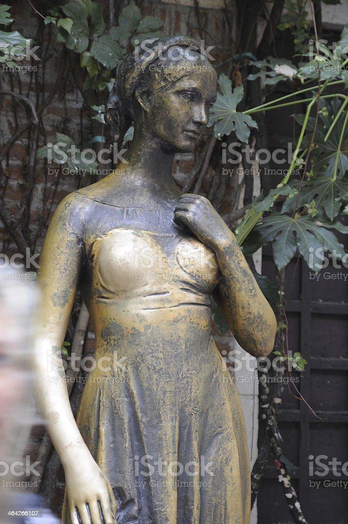 Statue of Julia in Verona, Italy stock photo