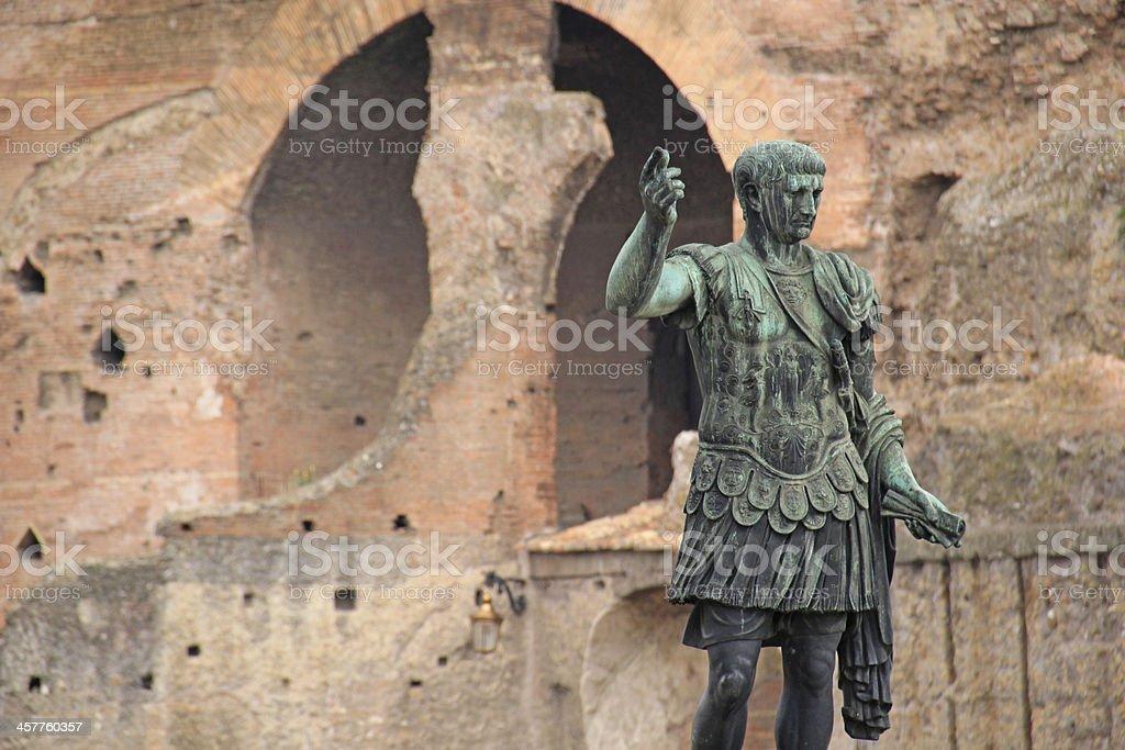 statue of Julius Caesar, rome, italy. stock photo
