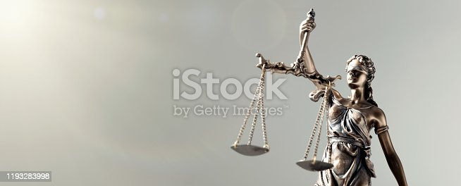 istock Statue of Justice - lady justice, law concept 1193283998