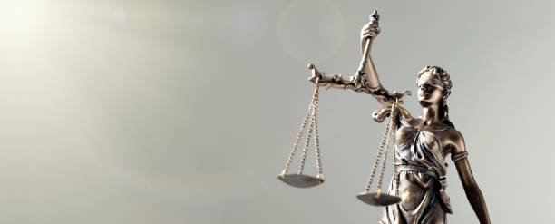 Statue of Justice - lady justice, law concept stock photo