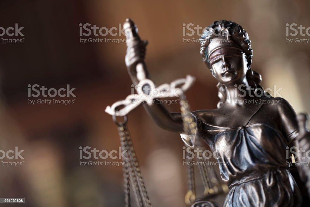 Estatua de Justicia - foto de stock