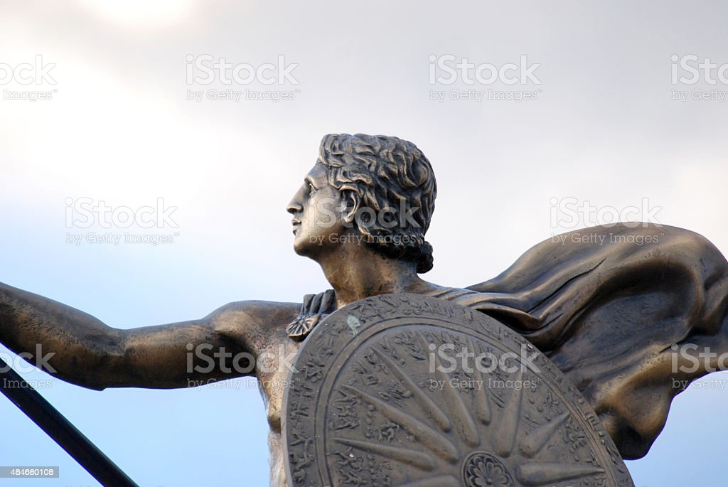 Statue of King Alexander the Great in Prilep, Macedonia stock photo