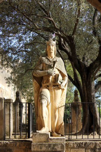 Statue of King Alfonso XI in the Alcazar