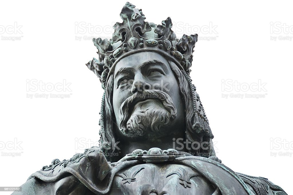 Statue of King Charles IV from shoulders up royalty-free stock photo