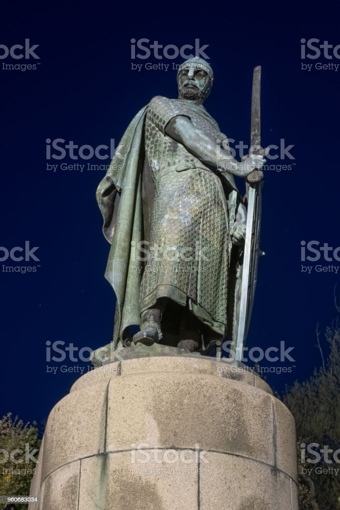 Statue of King Dom Afonso Henriques stock photo