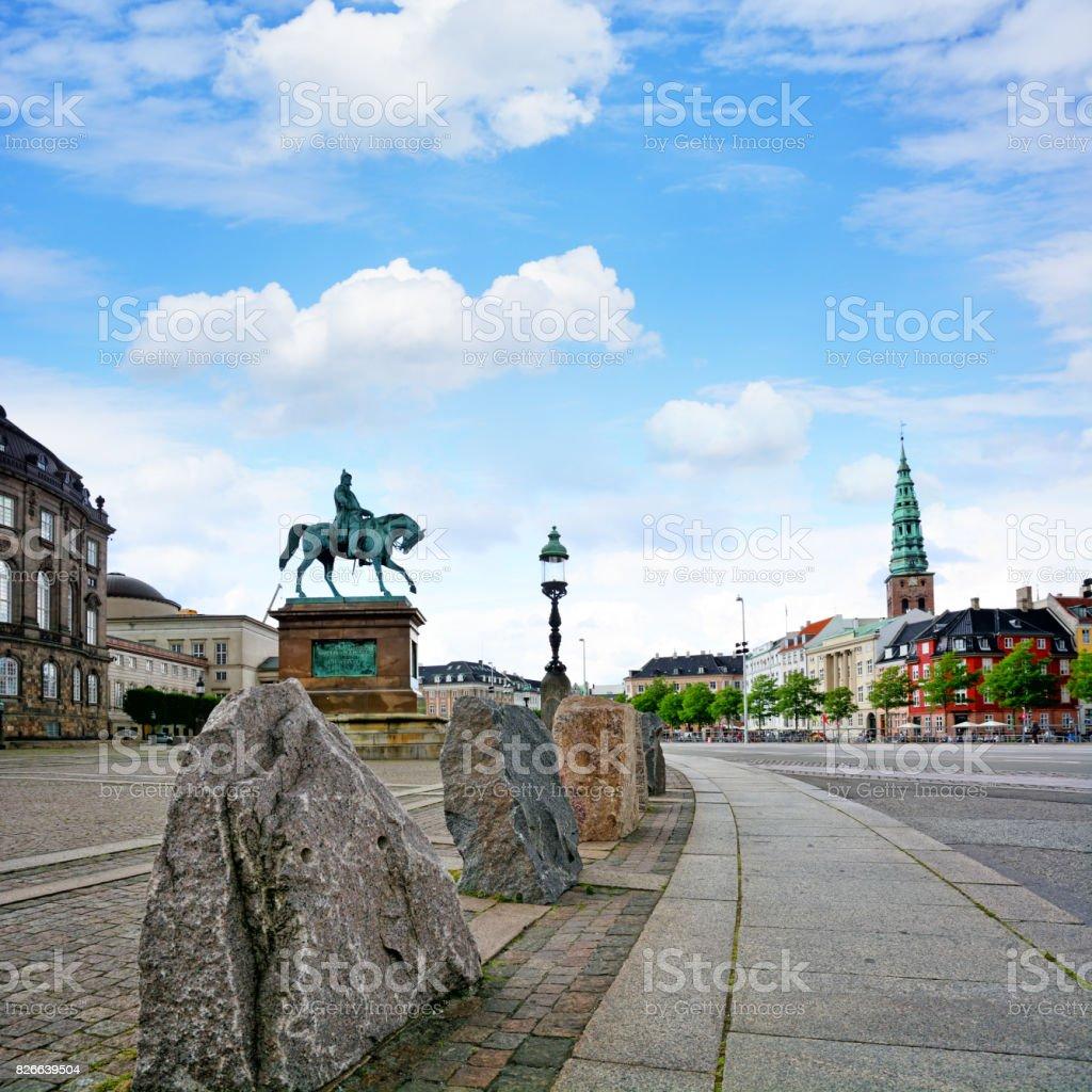Statue of King Frederik VII, Copenhagen stock photo