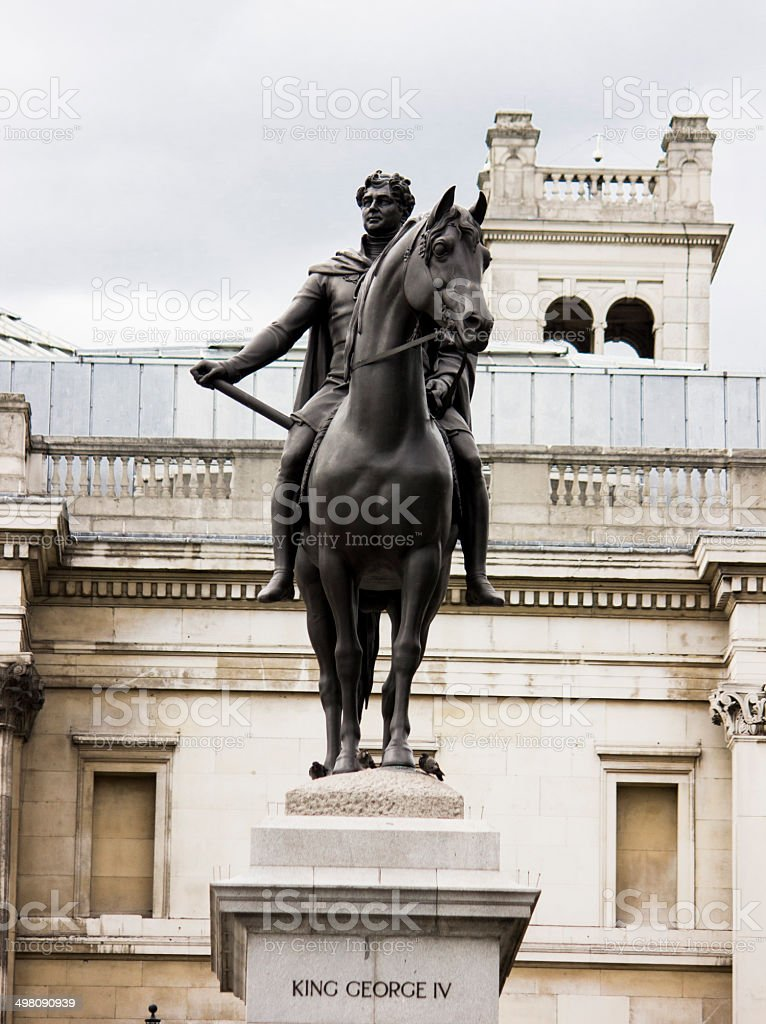 Statue of King George IV stock photo