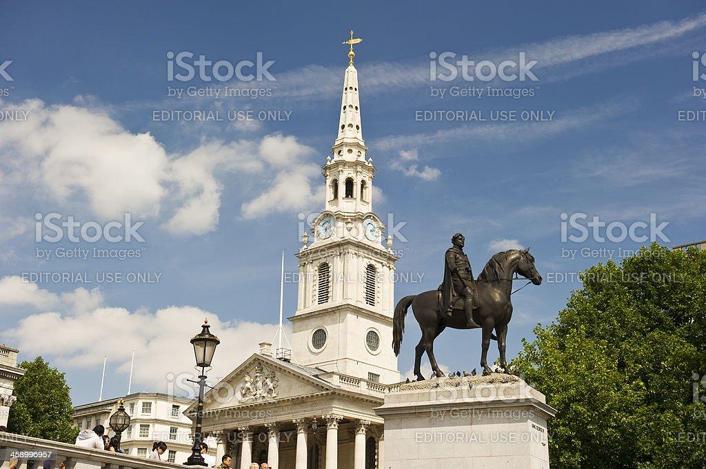 Statue of King George IV, Trafalgar Square, London stock photo