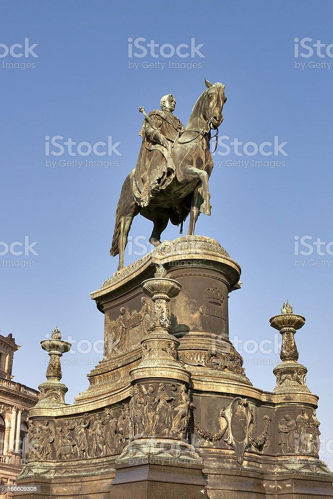 Statue of King Johann (1801-1873) in Dresden, Germany. royalty-free stock photo