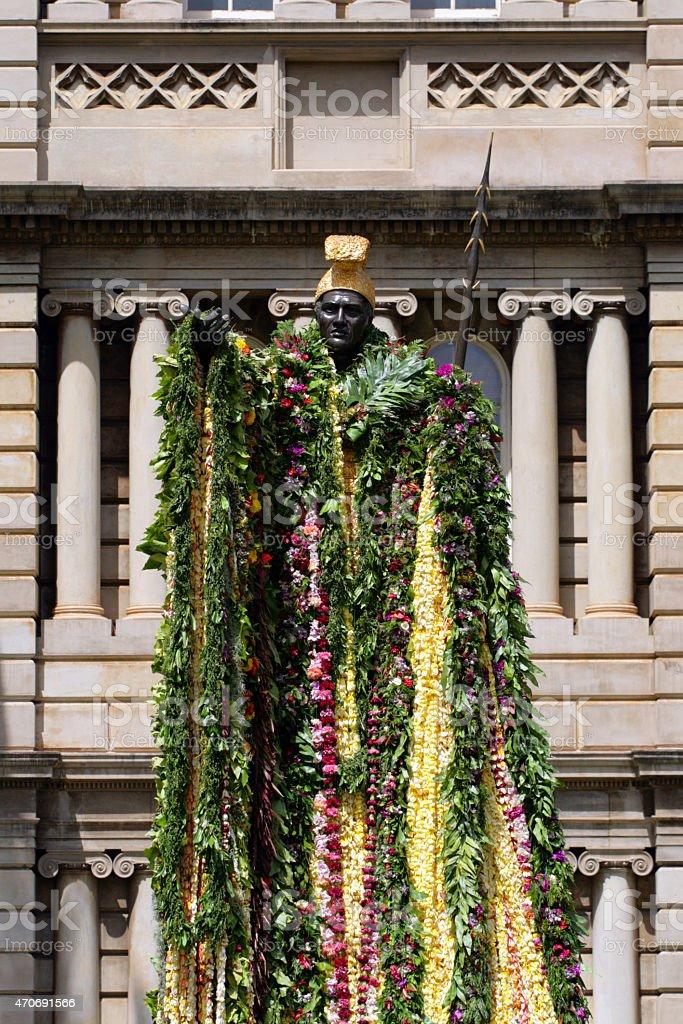 Statue of King Kamehameha, Honolulu, Hawaii stock photo