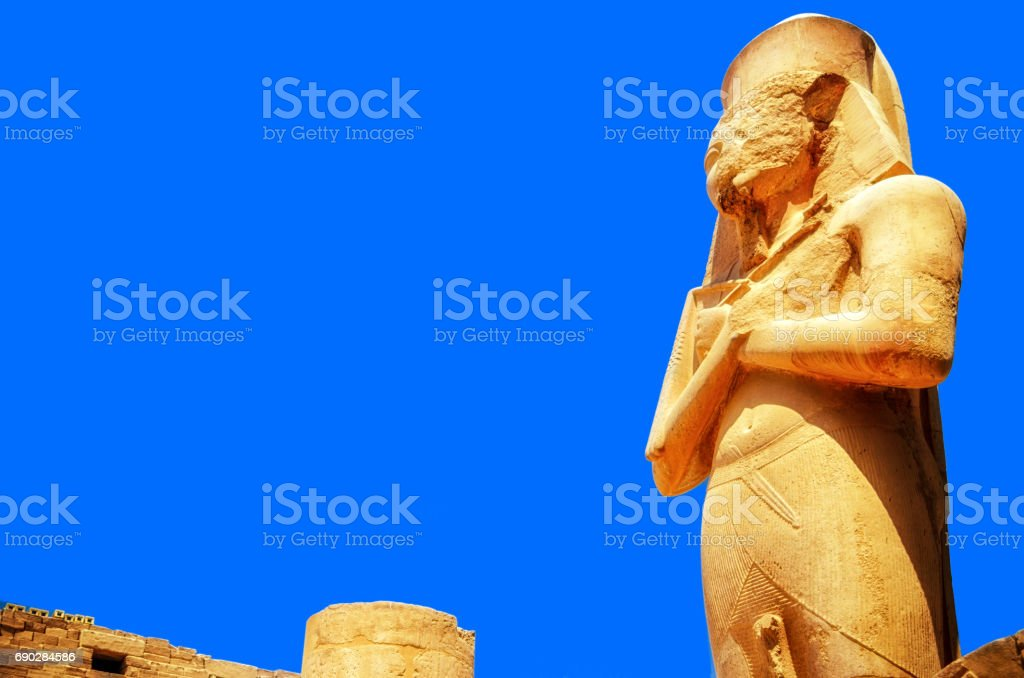 Statue of King Ramses II at the Karnak Temple, Egypt stock photo