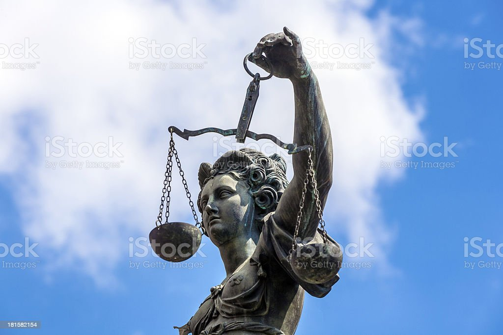 Statue of Lady Justice royalty-free stock photo
