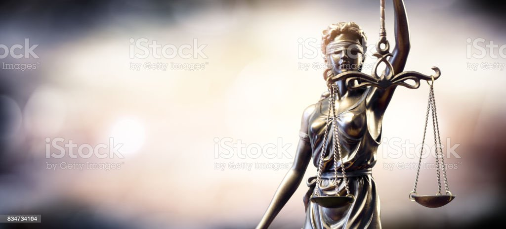 Statue Of Lady Justice - foto stock