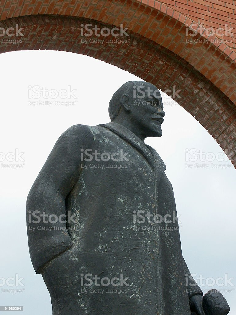 Statue of Lenin royalty-free stock photo