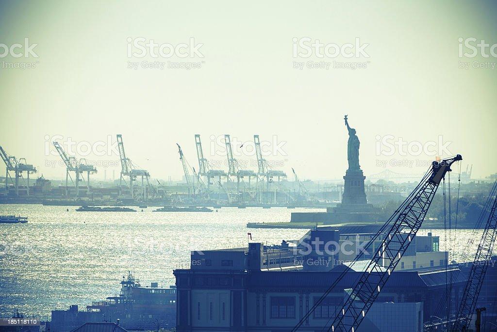 Statue de la Liberté et le port de New York City - Photo