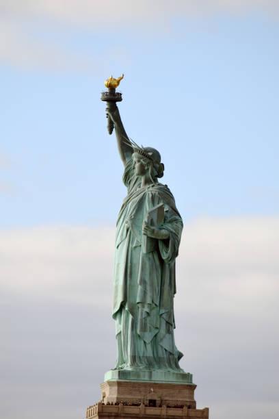 Statue of Liberty auf Liberty Island stock photo