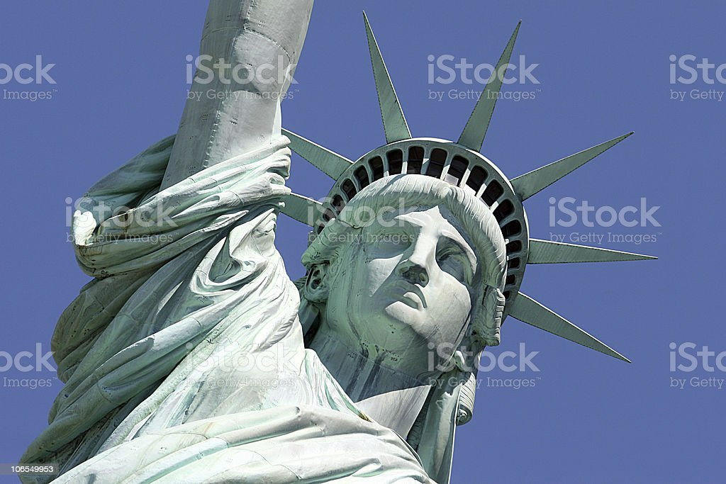 Statue of Liberty - Close Up #1 royalty-free stock photo