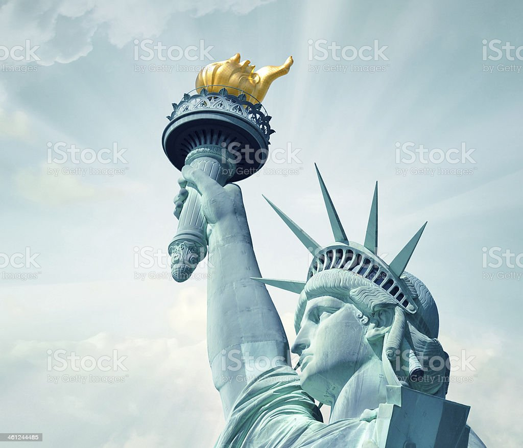 Statue of Liberty close-up stock photo
