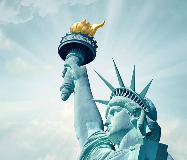 Statue of Liberty close-up stock photo