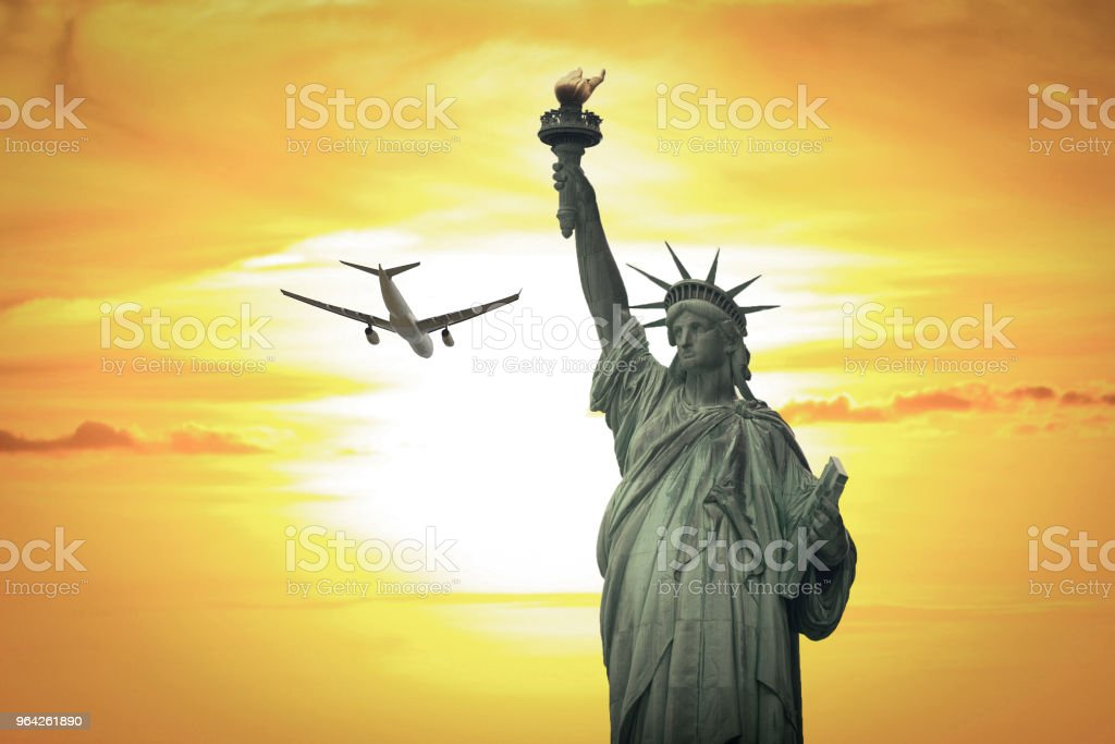 Statue of Liberty in New York City. stock photo