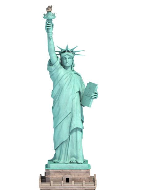 Freiheitsstatue in New York City, USA isoliert auf weiss. – Foto