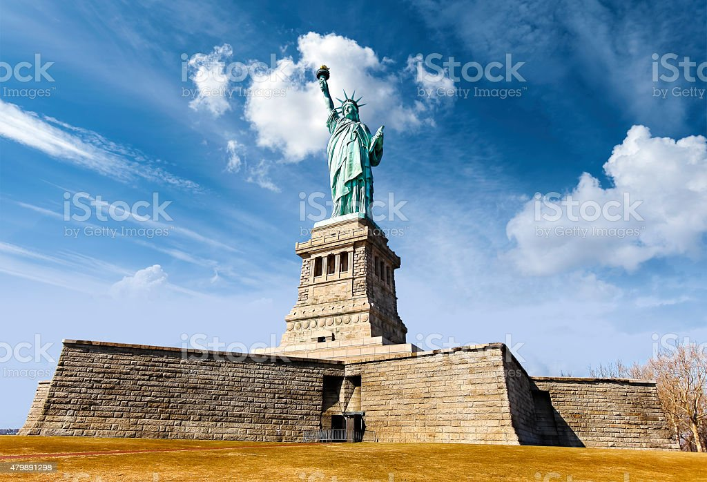 Statue of Liberty in New York City, USA. stock photo