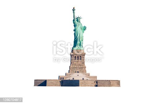 Statue of Liberty Isolated on White. Canon EOS 6D (full frame sensor) DSLR and Canon EF 70-200mm F/4L IS lens.