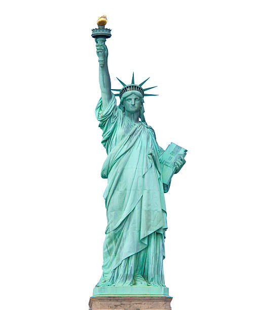 Statue of Liberty isolated stock photo