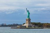 View of the Statue of Liberty and the Hudson River, New York City