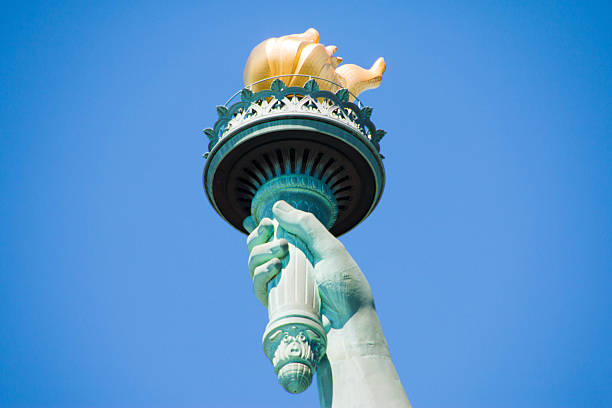 Statue of Liberty, New York, United States Statue of Liberty, New York, United States flaming torch stock pictures, royalty-free photos & images