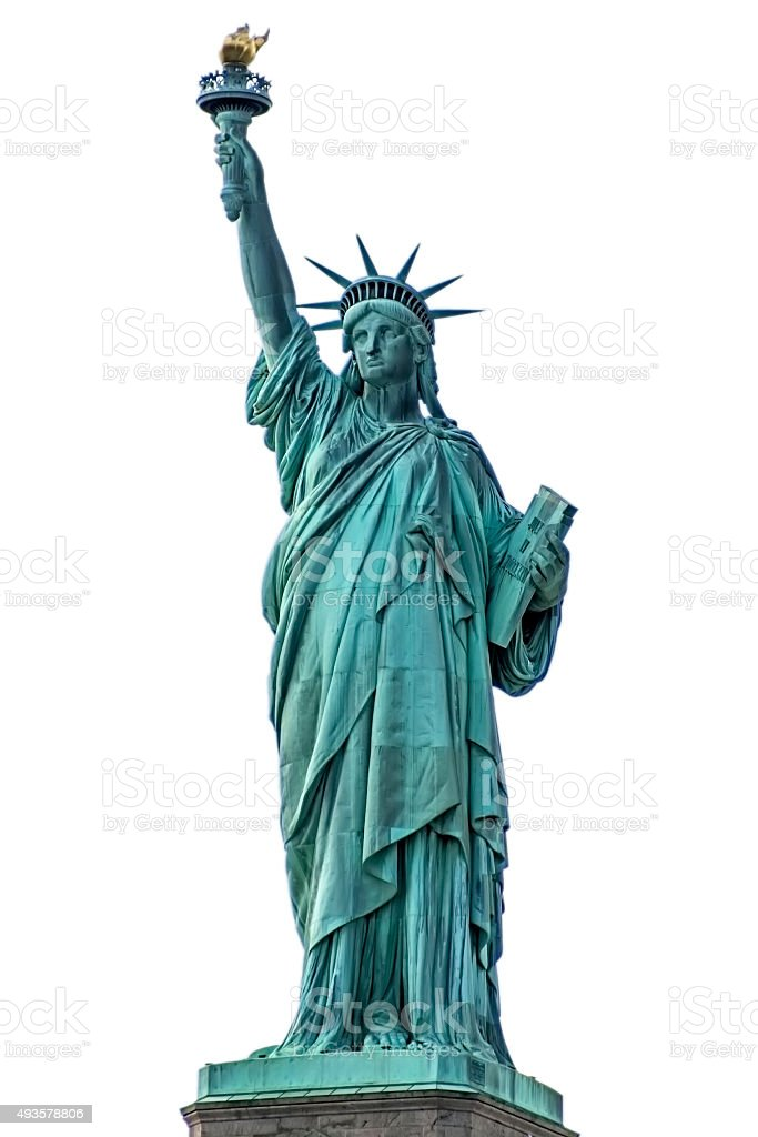Statue of Liberty NYC isolated stock photo