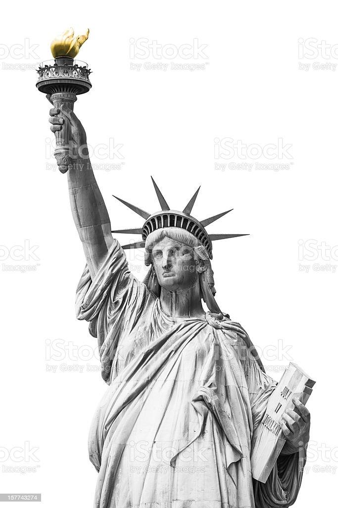 Statue of Liberty on New York City stock photo