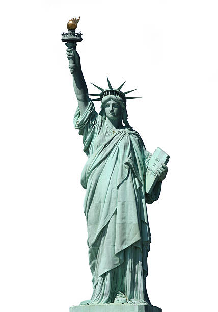 Statue of Liberty on White stock photo