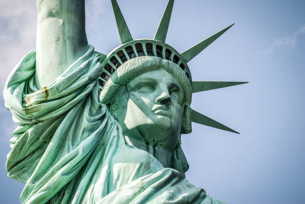 Statue of liberty Close up of Statue of Liberty in New York, USA liberty island stock pictures, royalty-free photos & images