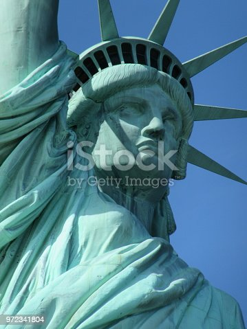 Up close view of the Statue of Liberty