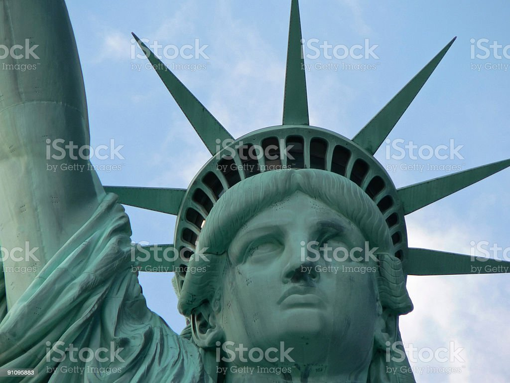 Statue of Liberty portrait royalty-free stock photo