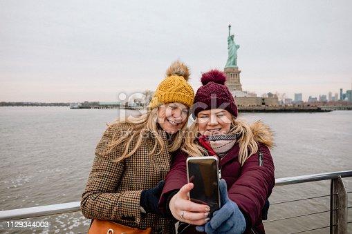 istock Statue of Liberty Selfie 1129344003