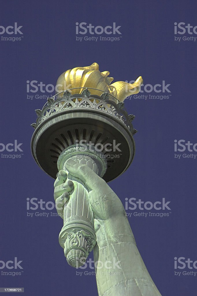 Statue of liberty torch royalty-free stock photo