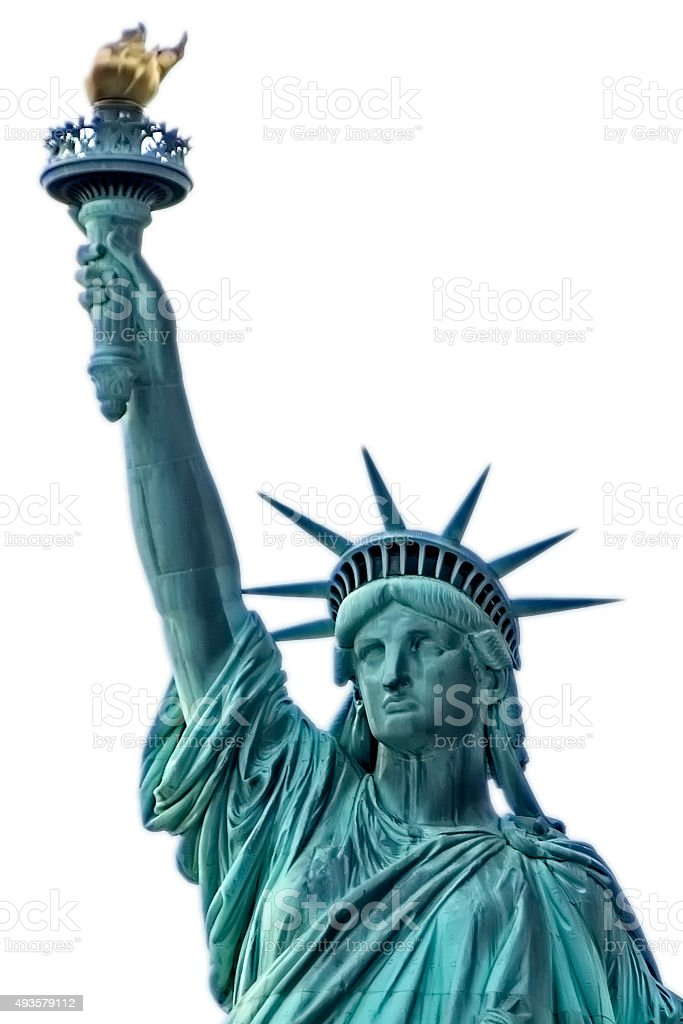 Statue of Liberty torso. New York. stock photo