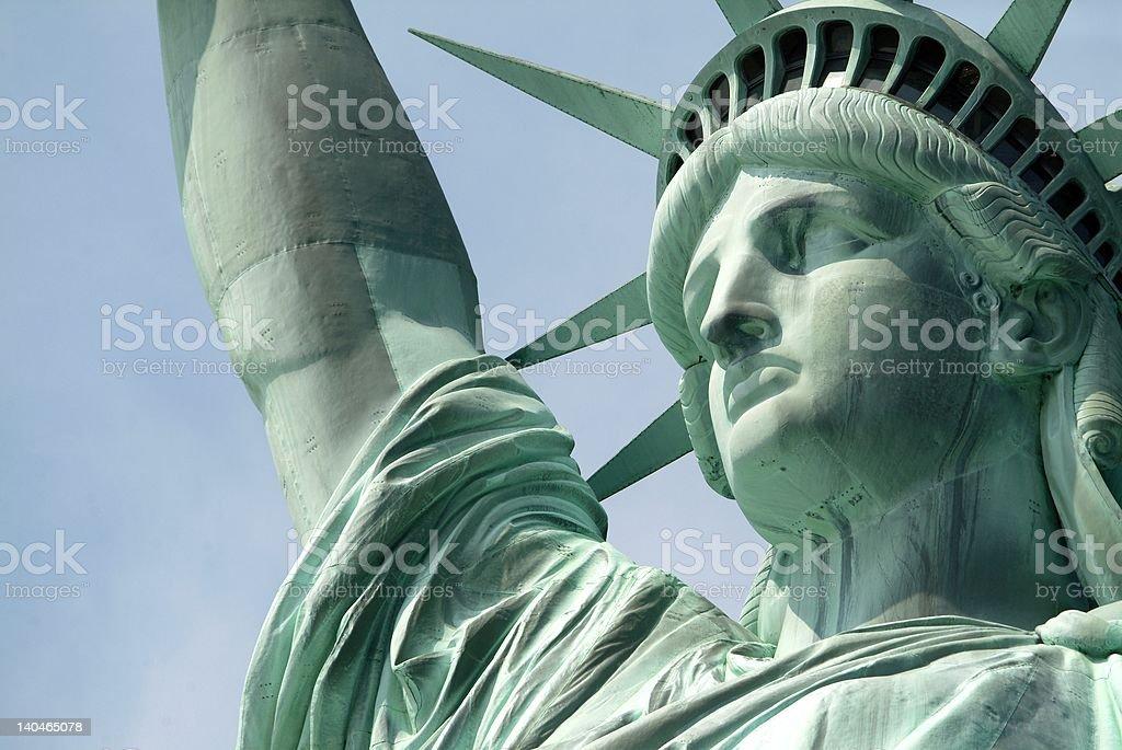 Statue of Liberty - up close stock photo