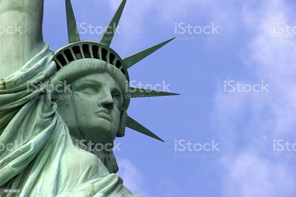 Statue of Liberty with Sky royalty-free stock photo