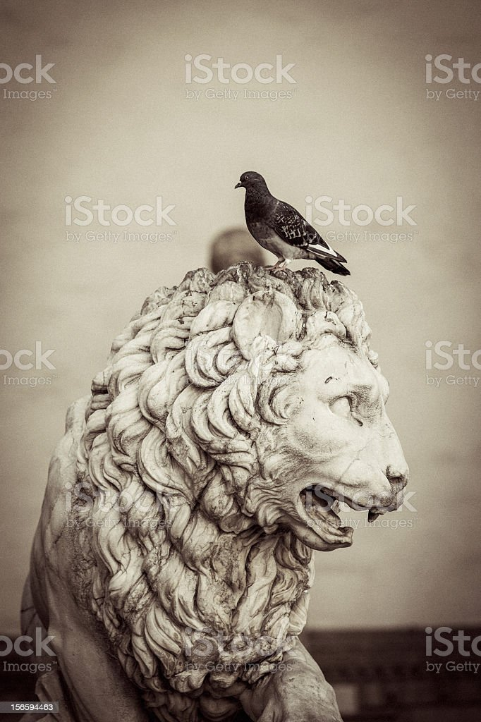 Statue of lion royalty-free stock photo